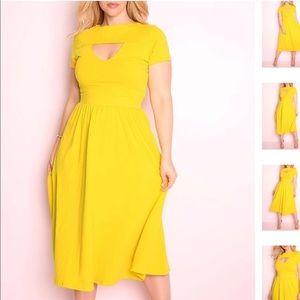 Dresses & Skirts - ** LAST ONE ** Yellow Skater Dress